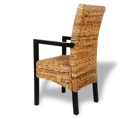 4 pcs Handwoven Abaca Dining Chair Set with Armrest[4/7]
