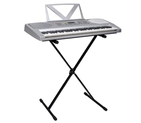 61-key Electric Keyboard with Music Stand + Adjustable Keyboard Stand