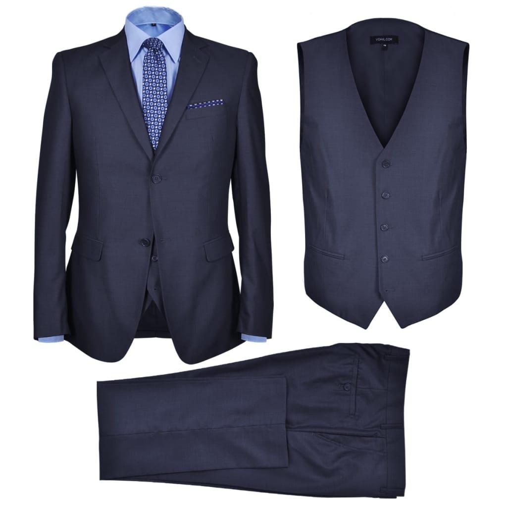 99130682 Dreiteiliger Herren-Business-Anzug Größe 46 Marineblau