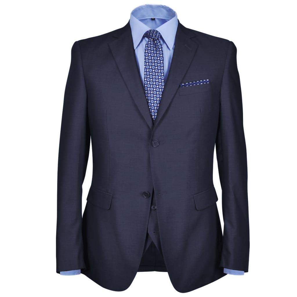 Třídílný pánský business oblek, vel. 46, námořnická modř