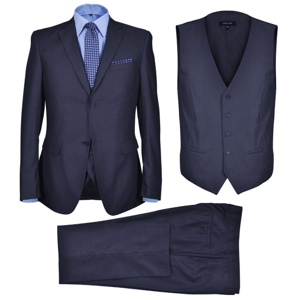99130684 Dreiteiliger Herren-Business-Anzug Größe 50 Marineblau