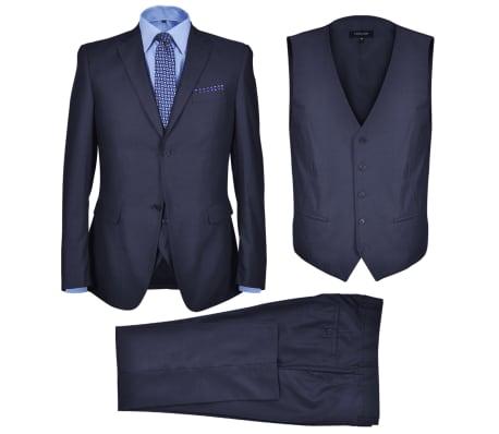 Three Piece Men's Business Suit Size 50 Navy Blue[1/10]