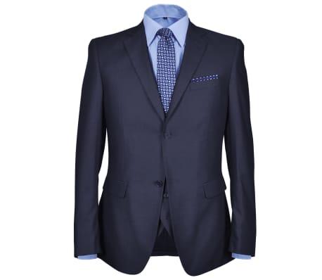 Three Piece Men's Business Suit Size 50 Navy Blue[2/10]