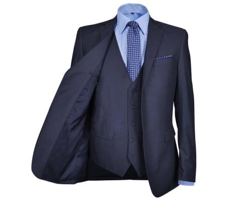 Three Piece Men's Business Suit Size 50 Navy Blue[3/10]