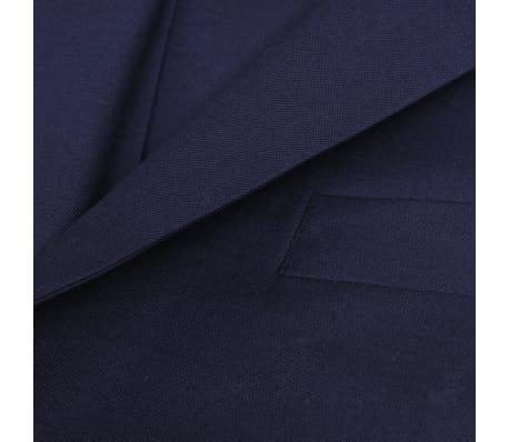 Three Piece Men's Business Suit Size 50 Navy Blue[6/10]