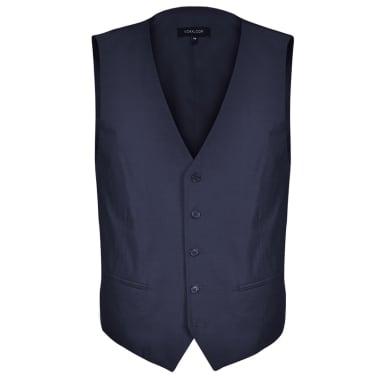 vidaXL Driedelig pak voor mannen maat 50 marineblauw[4/10]
