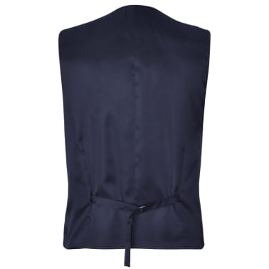 Three Piece Men's Business Suit Size 50 Navy Blue[5/10]