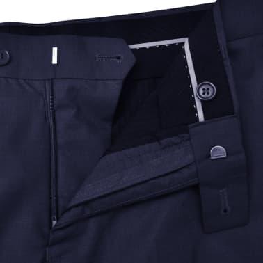 Three Piece Men's Business Suit Size 50 Navy Blue[9/10]