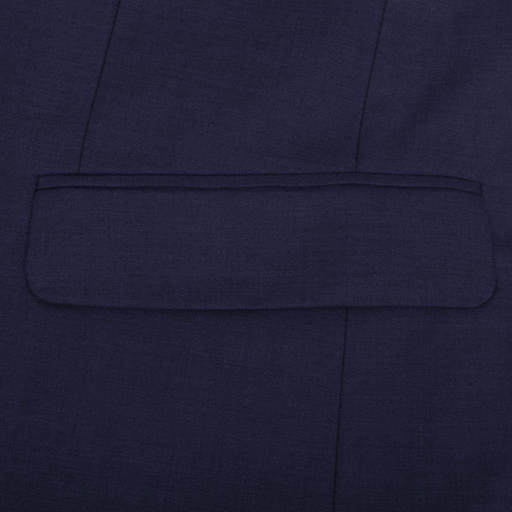 Driedelig pak voor mannen maat 52 (marineblauw)