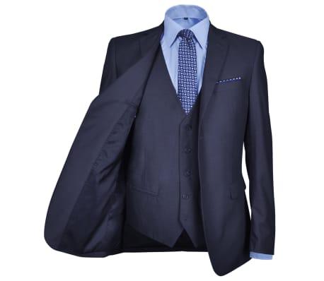 Costum business bărbați trei piese, mărimea 52, albastru marin[3/10]