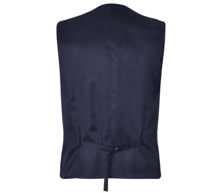 Costum business bărbați trei piese, mărimea 52, albastru marin[5/10]