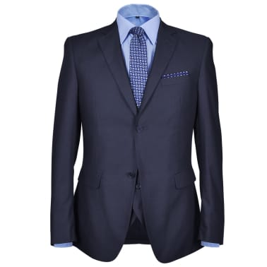 Costum business bărbați trei piese, mărimea 52, albastru marin[2/10]
