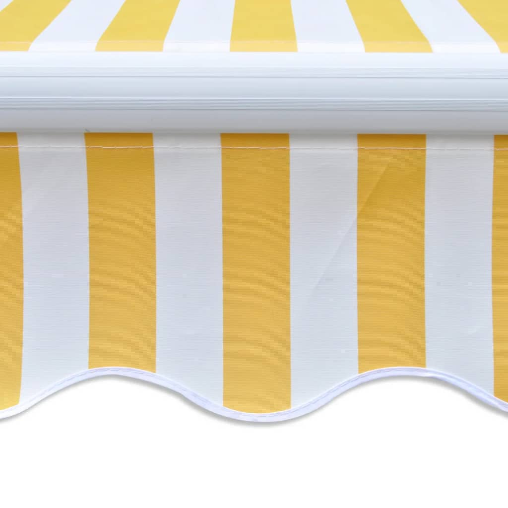 vidaXL Luifel uitschuifbaar 400 cm geel en wit