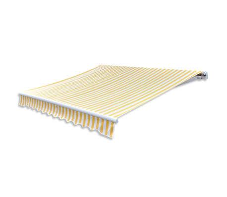 acheter vidaxl auvent pliable 400 cm jaune et blanc pas cher. Black Bedroom Furniture Sets. Home Design Ideas