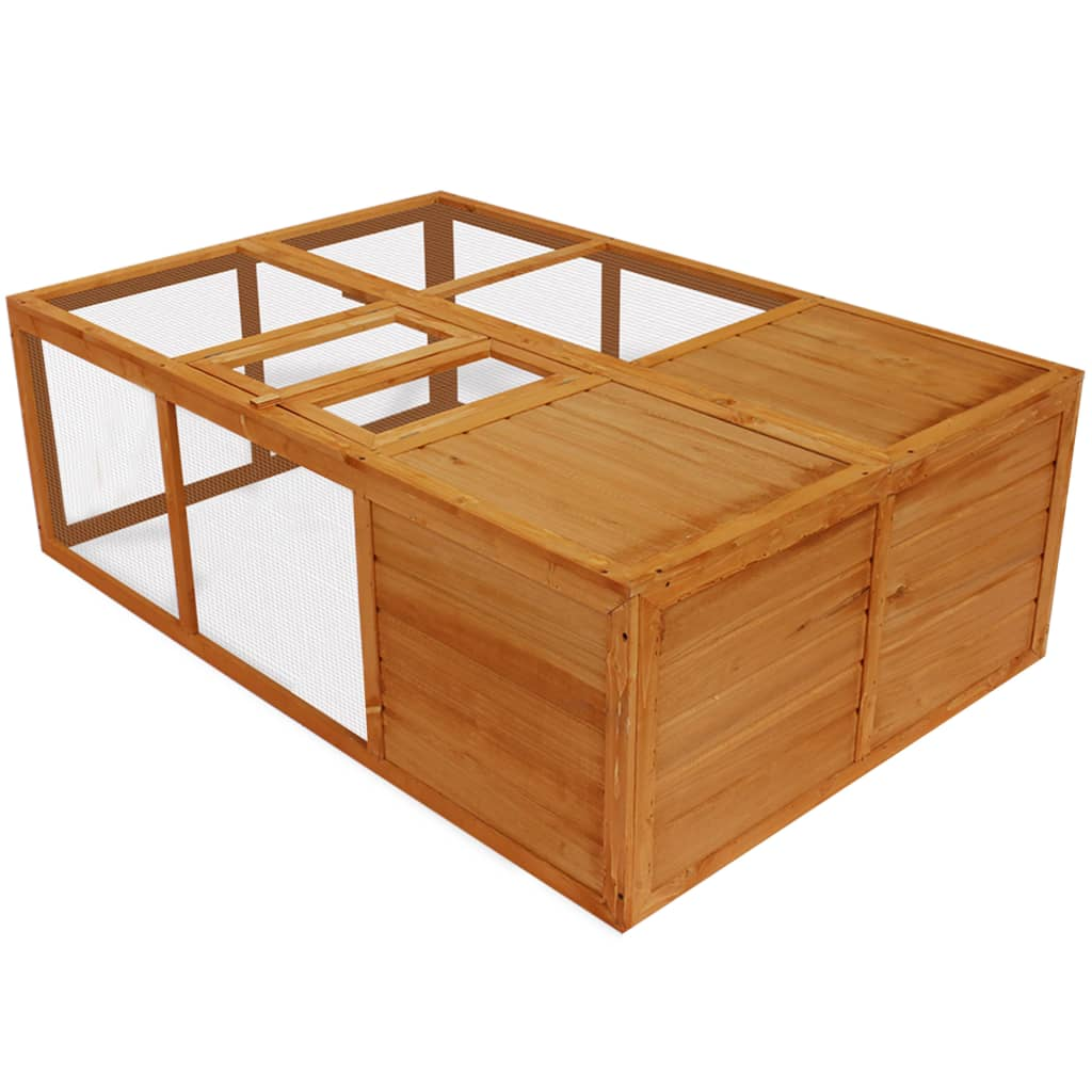 Cușcă animale de exterior pliabilă, lemn vidaxl.ro