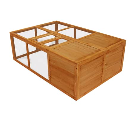 Outdoor Foldable Wooden Animal Cage[1/5]