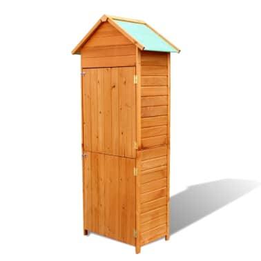 """vidaXL Garden Storage Cabinet Brown 31.1""""x19.3""""x74.8""""[1/6]"""