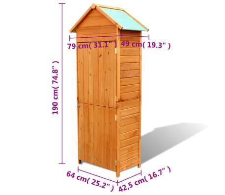 """vidaXL Garden Storage Cabinet Brown 31.1""""x19.3""""x74.8""""[6/6]"""