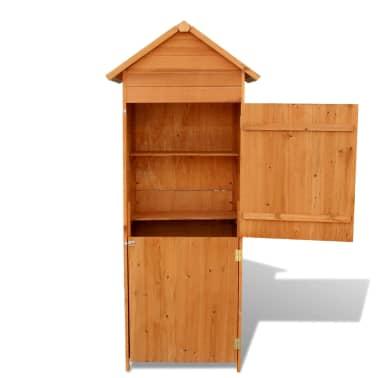 """vidaXL Garden Storage Cabinet Brown 31.1""""x19.3""""x74.8""""[3/6]"""