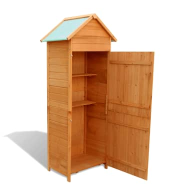 """vidaXL Garden Storage Cabinet Brown 31.1""""x19.3""""x74.8""""[4/6]"""