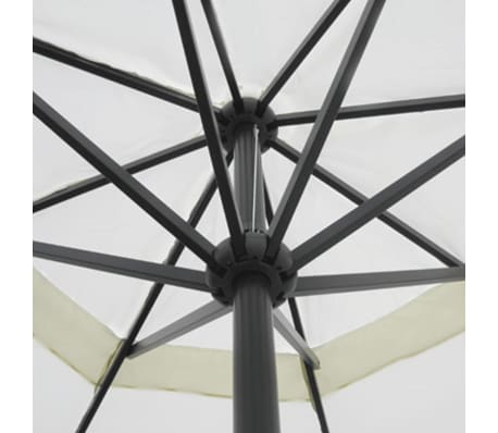 Aluminum Umbrella with Portable Base White[4/9]