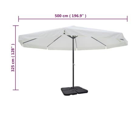 Aluminum Umbrella with Portable Base White[9/9]