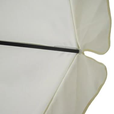 Aluminum Umbrella with Portable Base White[3/9]