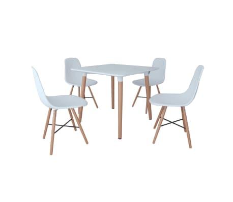 Bel jedilni set 1 kvadratna miza in 4 stoli