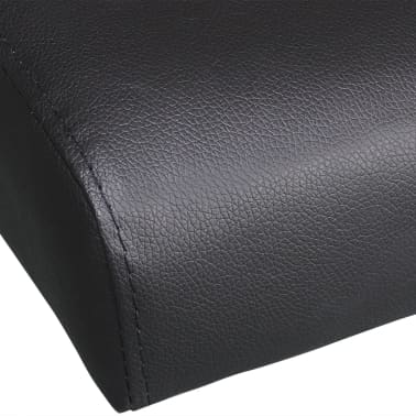 vidaXL Sofa Bed with Two Pillows Artificial Leather Adjustable Black[7/9]