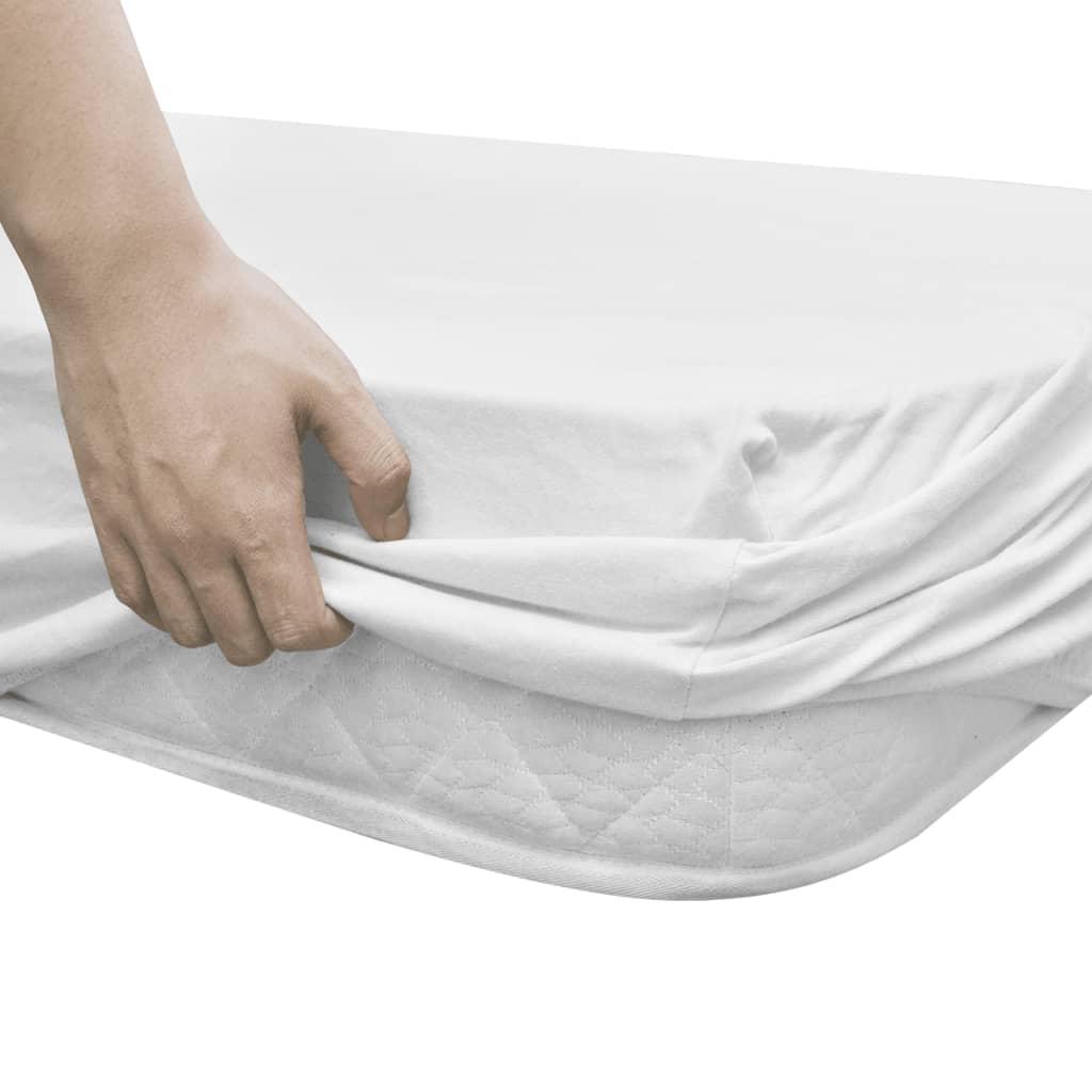 2 ks elastická prostěradla 140x200/160x200 cm bavlněný žerzej