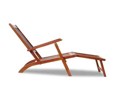 vidaXL Outdoor Deck Chair with Footrest Solid Acacia Wood[3/7]