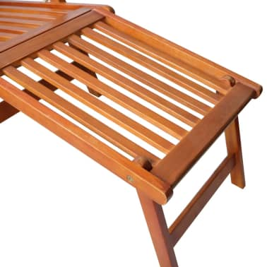 vidaXL Outdoor Deck Chair with Footrest Solid Acacia Wood[5/7]