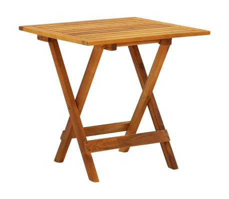 "vidaXL Bistro Table 18.1""x18.1""x18.5"" Solid Acacia Wood"