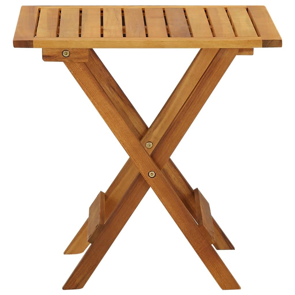 vidaXL Bistrotafel 46x46x47 cm massief acaciahout