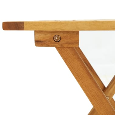 vidaXL Outdoor Coffee Table Acacia Wood[6/6]