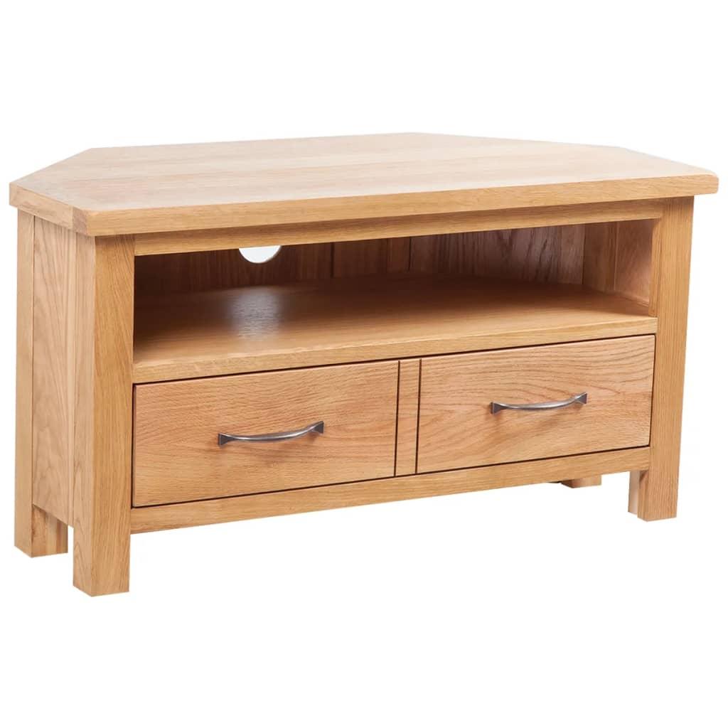 vidaXL TV stolek se zásuvkou 88 x 42 x 46 cm masivní dubové dřevo