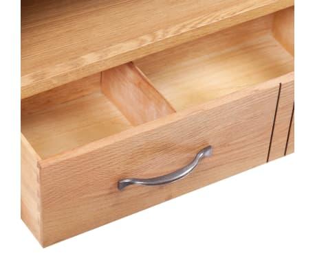 acheter meuble tv en ch ne tiroir 88 x 42 x 46 cm pas cher. Black Bedroom Furniture Sets. Home Design Ideas