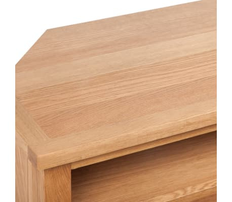 "vidaXL TV Cabinet with Drawer Solid Oak Wood 34.6""x16.5""x18.1""[5/7]"