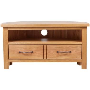 "vidaXL TV Cabinet with Drawer Oak 34.6""x16.5""x18.1""[2/7]"