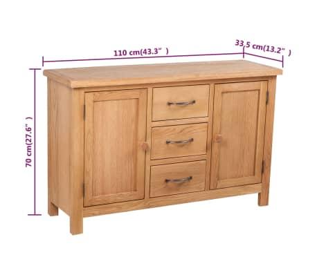 "vidaXL Sideboard with 3 Drawers Oak 43.3""x13.2""x27.6""[7/7]"