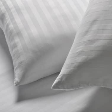 handla vidaxl bomull satin randigt p slakan rngott 140x200 80x80cm. Black Bedroom Furniture Sets. Home Design Ideas