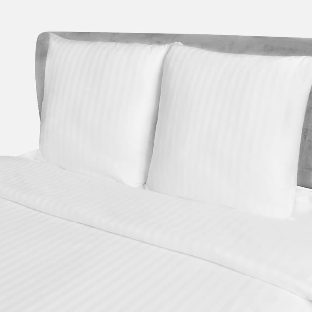 Povlečení přikrývka a 2 polštáře, bavlna pruhovaný satén, 200x200/80x80cm