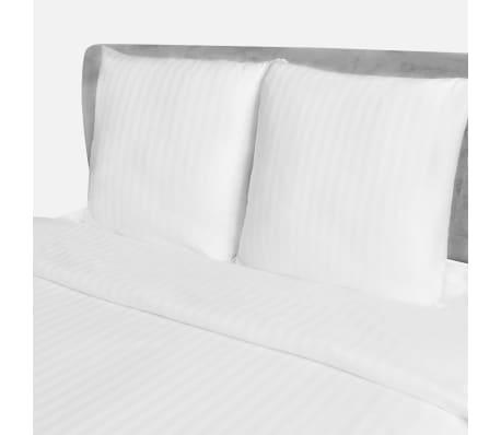 acheter parure housse de couette 2 taies d 39 oreiller en satin 200x200 80x80cm pas cher. Black Bedroom Furniture Sets. Home Design Ideas