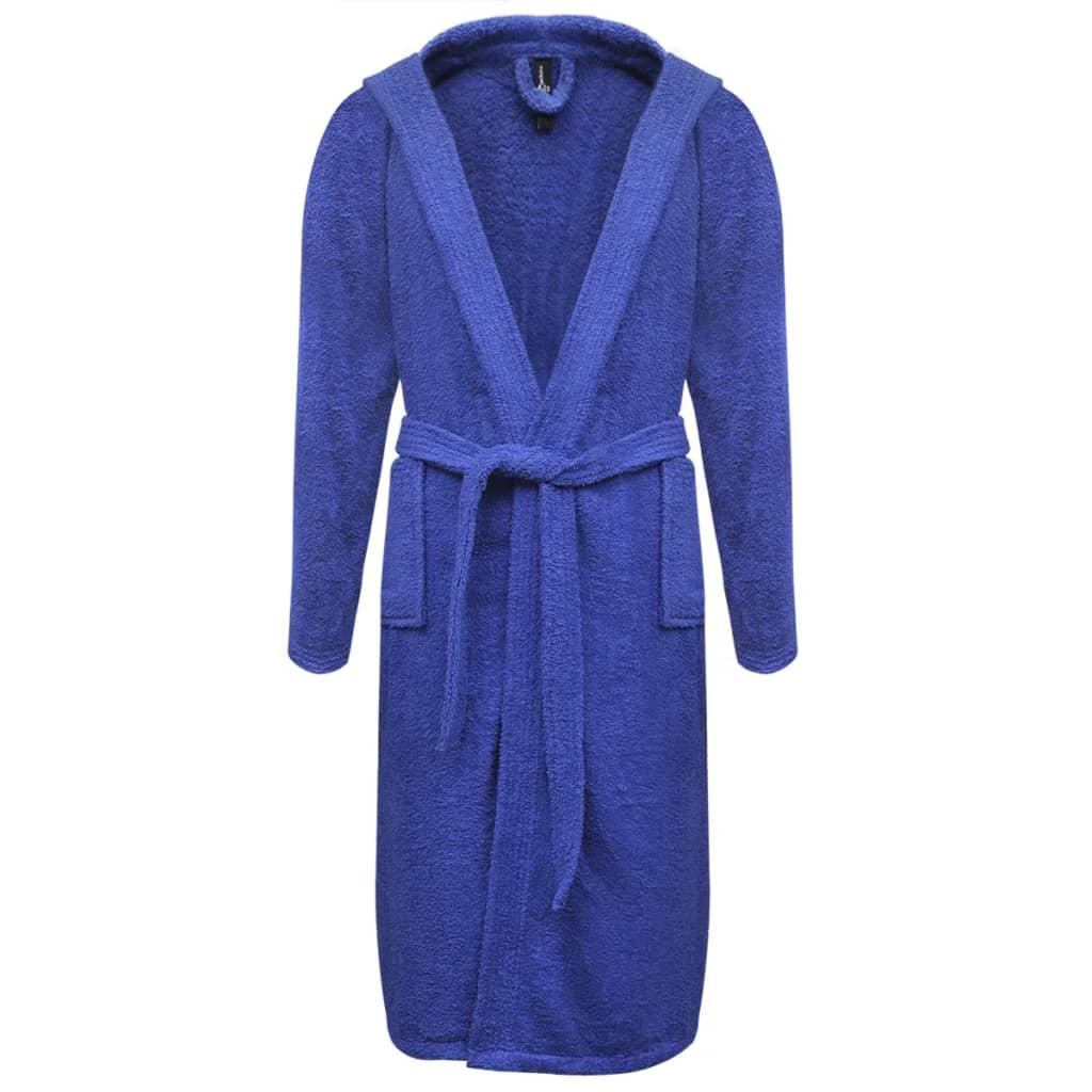 99130576 500 g/m² Unisex Frottee-Bademantel 100% Baumwolle Blau M