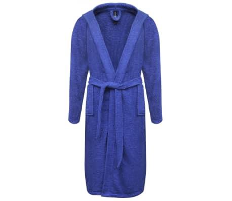 500 g/m² Unisex Frottee-Bademantel 100% Baumwolle Blau M[1/3]