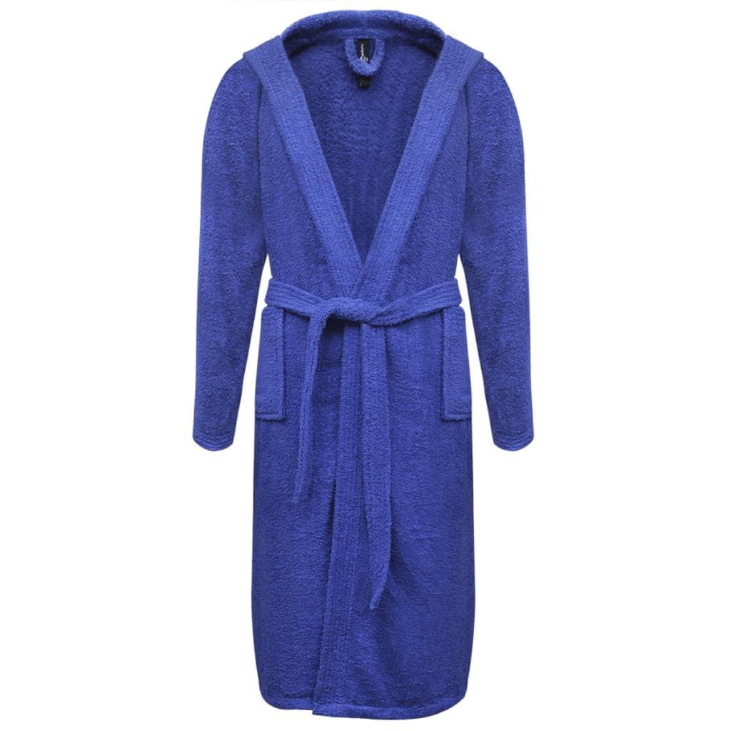 500 g/m² unisexový froté župan 100% bavlna, modrý, vel. L