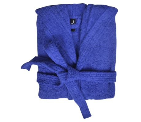 Frotē peldmētelis, 500 g / m², 100% kokvilna, unisex, XL, zils[2/3]