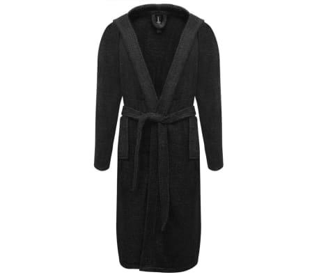 500 g/m² Badjas badstof zwart unisex (maat M)[1/3]