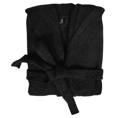 Frotē peldmētelis, halāts 500 g/m², unisex, M, melna 100% kokvilna[2/3]