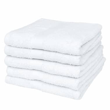 vidaXL Hotel-Gästetuch-Set 50 Stk. Baumwolle 400 g/m² 30×30 cm Weiß[1/2]